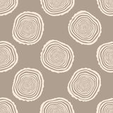 Tree Rings Seamless Vector Pattern. Stock Photography