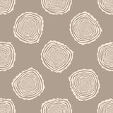 Tree Rings Seamless Vector Pattern. Stock Images
