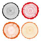 Tree rings. Set of cross section of the tree. Set of tree rings on isolation background. Conceptual graphics. Line artZen cats. Design Zentangle. Hand drawn Vector Illustration