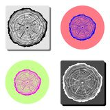 tree rings. flat vector icon stock images