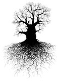 Tree with roots stock illustration