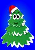 Tree in Santa hats Stock Photography