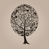 Tree a science Royalty Free Stock Images