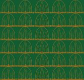 Tree seamless pattern Stock Photo