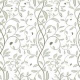 Tree seamless pattern stock illustration