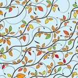 Tree seamless pattern Stock Photo