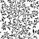 Tree seamless pattern Royalty Free Stock Photos