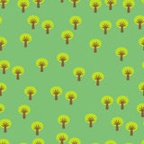 Tree seamless pattern Stock Photography