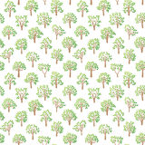 Tree seamless pattern. Tree seamless pattern with green leaf natural branches graphic. Vector illustration abstract decorative forest wallpaper. Nature Royalty Free Stock Photos