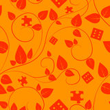 Tree seamless pattern. Orange tree seamless pattern. This is file of EPS8 format Royalty Free Stock Image