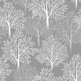 Tree seamless pattern. Vector illustration. EPS 10 Royalty Free Stock Photography