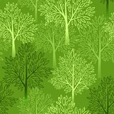 Tree seamless pattern. Vector illustration. EPS 10 Royalty Free Stock Images