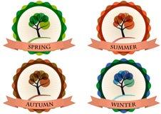 Tree season badge Stock Image
