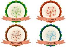 Tree season badge Stock Photo