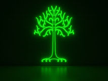 Tree - Series Neon Signs Stock Image