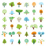 Tree Set. Set of Vector Tree Icon Royalty Free Stock Photo