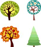 Tree set Royalty Free Stock Photography