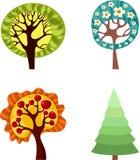Tree set Royalty Free Stock Photography