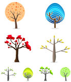 Tree Set Stock Photography