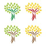 Tree 10. A set of tree icons in different colors Stock Photography
