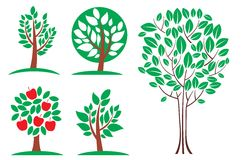 Tree set. Vector Stock Photo