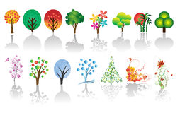 Tree Set in Vector Royalty Free Stock Photo