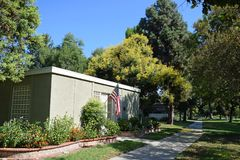 Tree shaded home in Laguna Woods, Caliornia royalty free stock photos