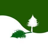 Tree and shadow. Ecology Logo Stock Photo