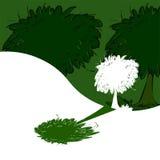 Tree and shadow. Ecology Logo Stock Photos