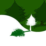 Tree and shadow. Ecology Logo Royalty Free Stock Photo