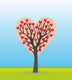 Tree in the shape of a heart Royalty Free Stock Image