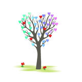 Tree in the shape of a heart Royalty Free Stock Images