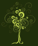 Tree shape from twirls Stock Photos