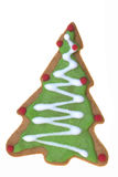 Tree Shaped Ginger Bread Isolated Stock Photography
