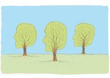 Tree-shaped head Stock Photo