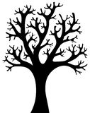 Tree shaped silhouette 4 Royalty Free Stock Photography