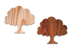 Tree shapes in wood Stock Images