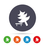 Tree sign icon. Break down tree symbol. royalty free illustration