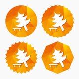 Tree sign icon. Break down tree symbol. Stock Image