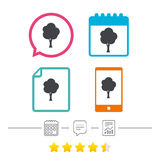 Tree sign icon. Forest symbol. Stock Photography