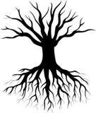 Tree silhouette cartoon Stock Image