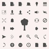 Tree silhouette icon. web icons universal set for web and mobile. On colored background royalty free illustration
