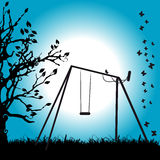 Tree silhouette, summer Stock Photos