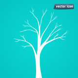 Tree silhouette vector icon Royalty Free Stock Image