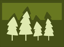 Tree silhouettes stock illustration
