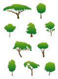 Tree silhouettes stock image