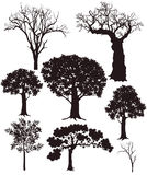Tree silhouettes Royalty Free Stock Photos