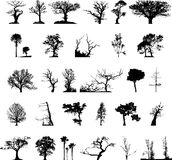 Tree silhouettes set Stock Images