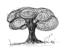 Tree sketch Royalty Free Stock Photography