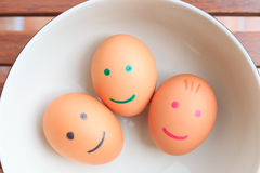 Tree smile egg Royalty Free Stock Images